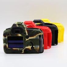 Capa protetora de silicone limitx, proteção de corpo para câmera canon eos 5d mark ii 5d2 dslr