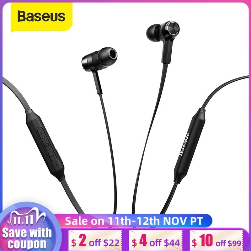 Auriculares Bluetooth inalámbricos Baseus S06, banda para el cuello deportiva, auriculares magnéticos inalámbricos con micrófono para todos los teléfonos Auriculares y audífonos  - AliExpress