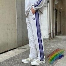 Pantalon à aiguilles blanches pour hommes et femmes, 1:1, velours de haute qualité, papillon brodé, Logo AWGE