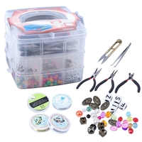 Jewelry Making Supplies Jewelry Making Tools Kit with Jewelry Pliers,Beading Wire Jewelry Beads and Charms for Jewelry Necklace