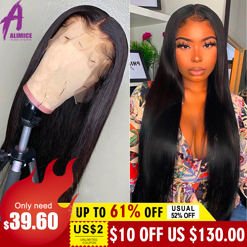 Brazilian Straight Lace Front Wigs For Black Women 13*4 Medium Brown And Transparent Remy Lace Front Human Hair Wigs Glueless