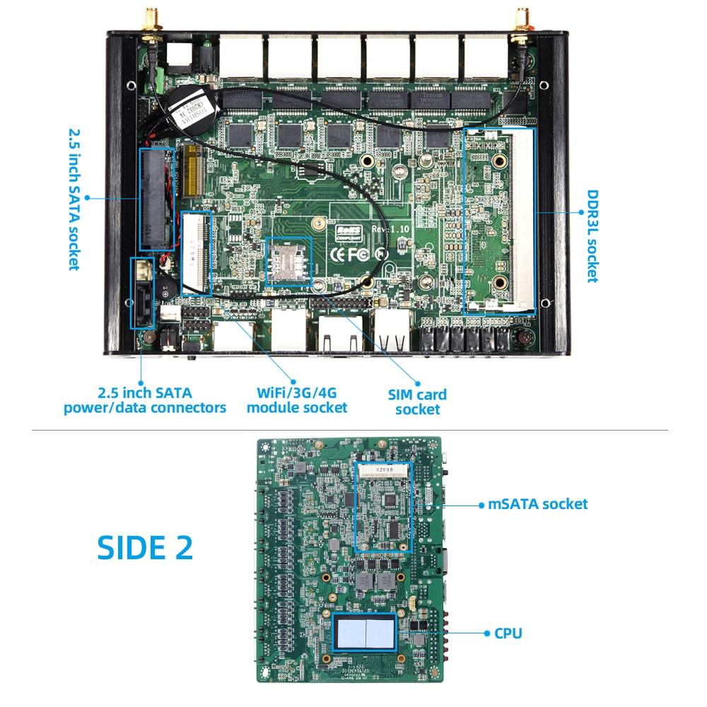 Xcy мини ПК брандмауэр прибор intel celeron 2955u 6x гигабитный