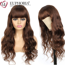 Hair Wigs Bangs Blonde Body-Wave Full-Machine Brazilian EUPHORIA 4 27 33 Red Middle-Brown