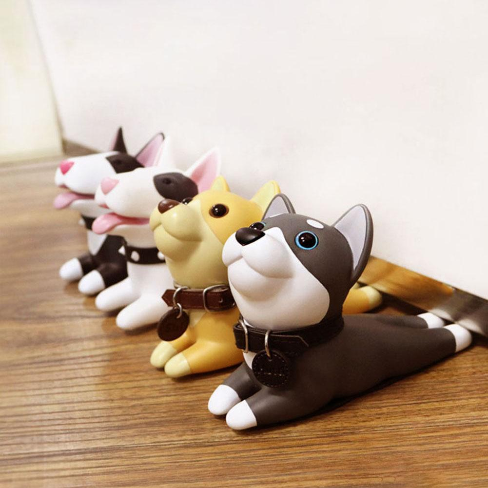 Door Stopper Cute Dog Pig Mouse Cat Shape Door Stopper Holder Hard PVC Doorstop Wedge Gift Door Holder Stopper Safety Guard Stop