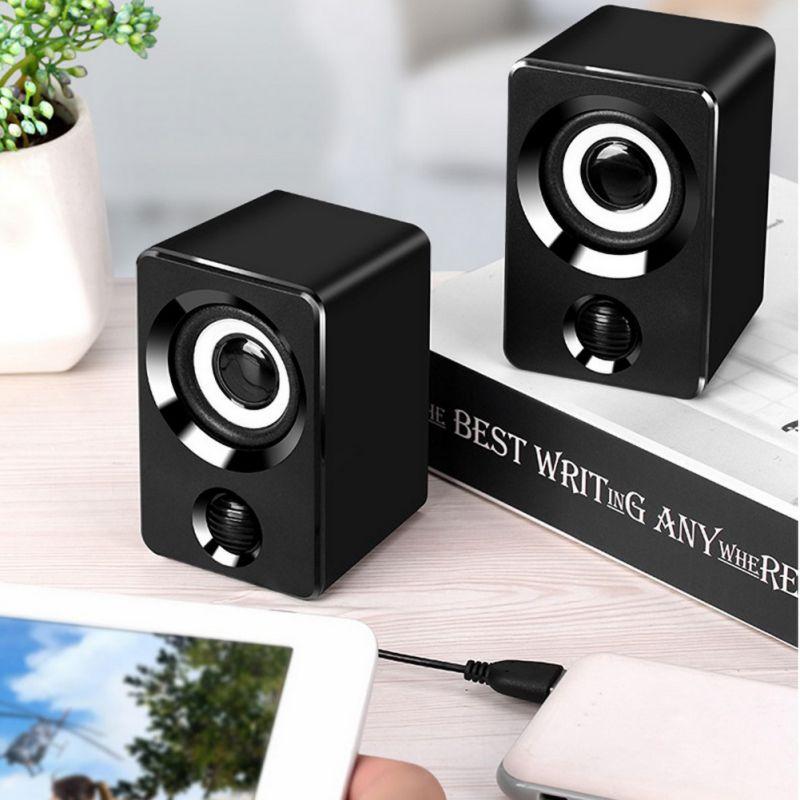 1 пара, портативный мини стерео динамик, настольный компьютер, громкий динамик, USB 3,5 мм, аудио разъем X9