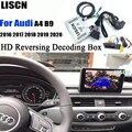 Фронтальная задняя камера для Audi A4 B9 2016 2017 2018 2019 2020, интерфейсный адаптер, оригинальный дисплей, улучшенная резервная парковочная камера