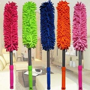 Image 1 - 1 pçs cores aleatórias 57cm extra longo flexível escova de lavagem carro microfibra macarrão chenille liga roda limpeza ferramenta