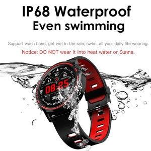 Image 4 - L8 Smart Watch Men IP68 Waterproof SmartWatch ECG Blood Pressure Heart Rate Sports Fitness Pk L5 L9