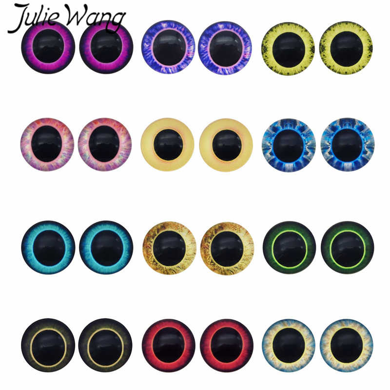 Lot 5 Pairs of 30mm Large Human Glass Eye Props for Crafts Dolls Jewelry Making
