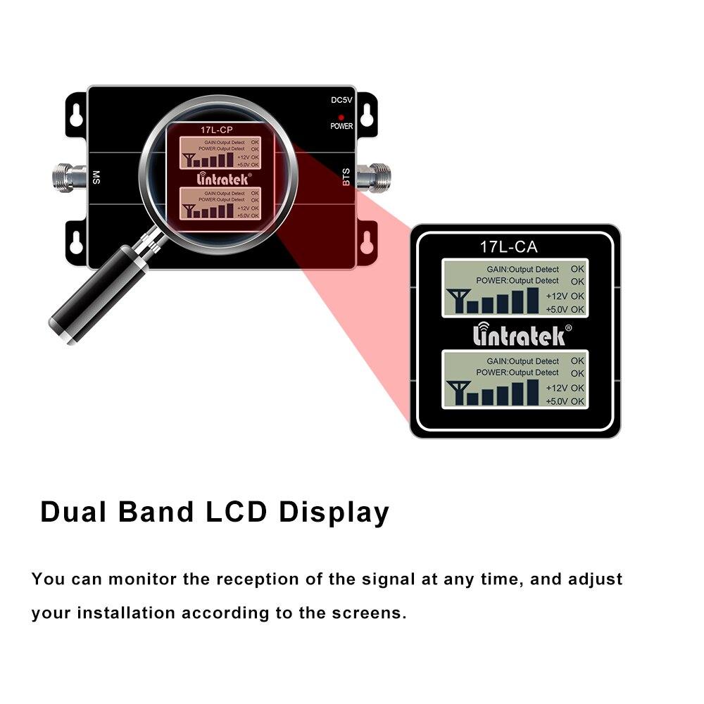 Усилитель сотового сигнала Lintratek GSM 900 2100 МГц WCDMA, 2G UMTS 3g Ретранслятор 2100 900 МГц, Усилитель сотового сигнала, полный комплект для dj