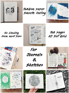 Image 2 - BUKE Dot Grid Notebook Dotted Watercolor Journal Sketchbook Thicken Paper 180GSM 160GSM Dotted160 Pages 5X5mm
