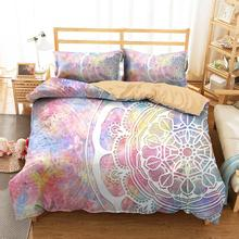 Bedding Clothes Home Textiles Purple Mandala Printed Duvet Cover with Pillowcases King Double Size bedding clothes home textiles dream dark purple mandala printed duvet cover with pillowcases for adult queen double size