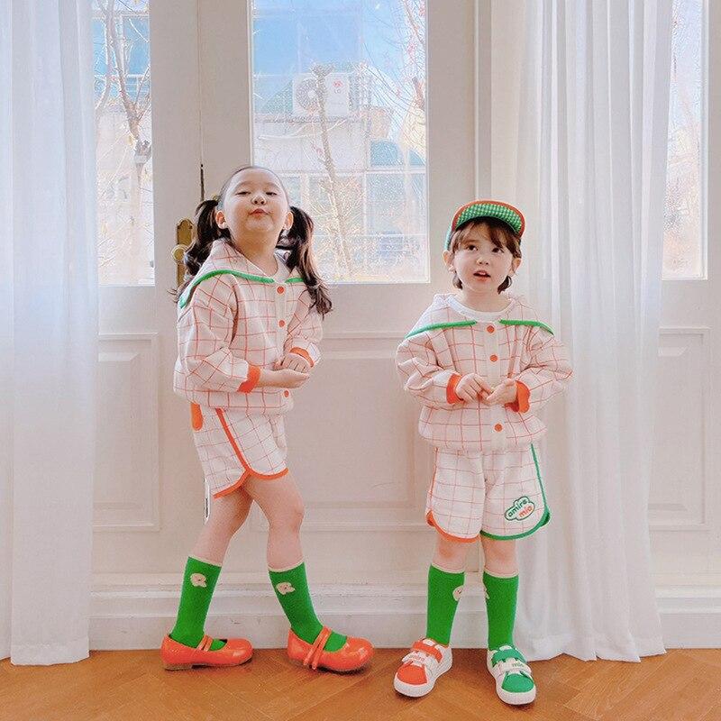 2021 New Spring Summer RJ Korean Brand Kids T-shirts Sweatshirt Baby Girls Children Cartoon T shirt Boy Clothes Jacket Overall 4
