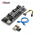 PCI-E Pcie Riser 009S PLUS Profesional Express 1X 4x 8x 16x Extender PCI E USB Riser 009 GPU 6Pin Card SATA 15pin for BTC Miner
