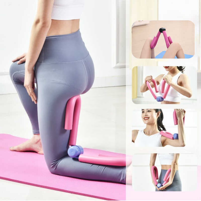 Setaria Viridis Multifunctional Legs Artifact Thigh Master Exercisers Arm Muscle Chest Waist Trainer Gym Home Fitness Workout Machine Stovepipe Clip Yoga Training Beautiful Buttock Clip