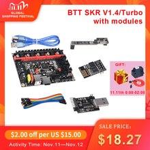 قطع غيار طابعة ثلاثية الأبعاد ماركة BIGTREETECH BTT SKR V1.4 32 بت لوحة SKR V1.4 توربو مع وضع DCDC V1.0 WIFI BTT الكاتب ترقية SKR V1.3