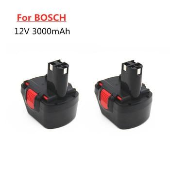 2PCS BAT043 BAT045 BAT046 BAT120 BAT139 3.0Ah Ni-MH 12V Rechargeable Battery for Bosch 12 V Drill GSR12VE-2 PSR12VE-2 2607335273
