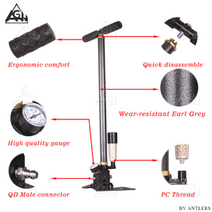 Image 5 - New 30Mpa 4500psi PCP Paintball Air Rifle hand pump 3Stage High pressure with filter Diving Mini Compressor bomba not hill