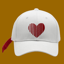 Baseball Cap Children's Korean-style Versatile Hip Hop Hat Red Ribbon Stylish GUY'S College Style Long-Tail Non-mainstream Duckb(China)