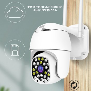 23 Led Sound And Light Alarm Automatic Tracking Wireless Wifi Camera Hd Ptz Home 1080 Outdoor Dual Light Source
