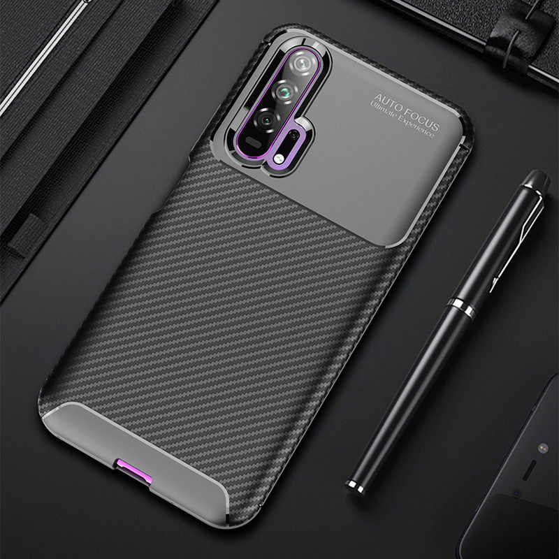 Carbon Phone Back Cases for Huawei P10 P20 P30 Pro Case Mate 10 20 Lite Nova 2i 3 3i 3E 4 4E 5 5i Y5 Y6 2019 2018 Cover Silicone