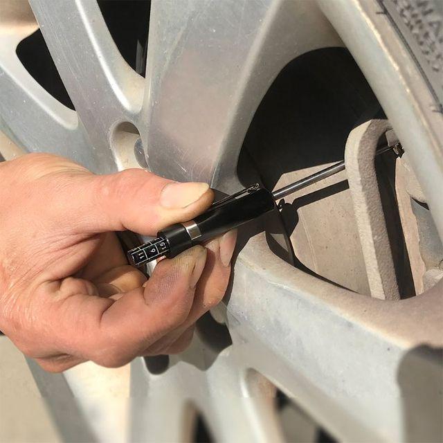 Fren balatası kalınlık ölçer zaman tasarrufu garaj ön Mot ölçme aracı araba lastiği için Q9QD