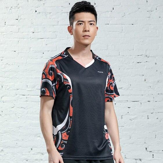 V-образная горловина, короткий рукав, форма для настольного тенниса, один топ для мужчин и женщин, летняя одежда для учеников средней школы, студентов средней школы - Цвет: A2625male2