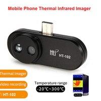 HT 102 Handy Thermische Infrarot Imager Unterstützung Video Bilder für Android Typ C Thermische Imaging Temperatur Detektor-in Temperaturinstrumente aus Werkzeug bei