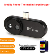 HT-102 Mobile Phone Thermal Infrared Imager Support Video Pictures for Android Type C Thermal Imaging Temperature Detector цены онлайн