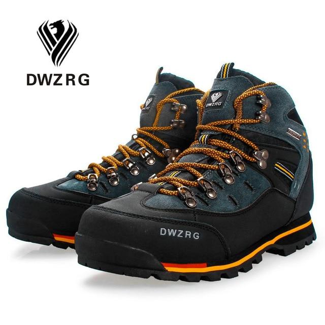 DWZRG Men Hiking Shoes Waterproof