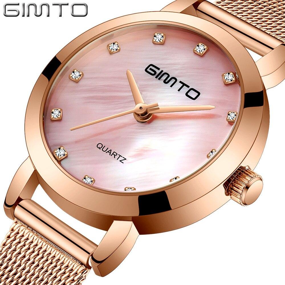 Fashion Women Watches Casual Rose Gold Rhinestone Ladies Watch Bussiness Dress Waterproof Quartz Female Wristwatch Gift
