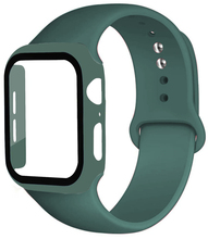 Glass+Band for Apple Watch strap 44mm 40mm 38mm 42mm Screen Protector+Case+belt Bracelet iWatch series 5 4 3 6 se Accessories