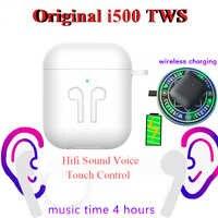 Oryginalny i500 TWS 1:1 douszne słuchawki bluetooth Mini bezprzewodowy sport słuchawki słuchawki super stereo słuchawki douszne basowe PK Aire 2 3