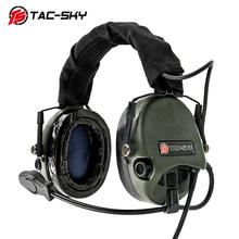 TAC-SKY TEA Hi-Threat Tier 1 Silicone Earmuffs Edition Outdoor Airsoft Military Aviation Noise Reduction Pickup Tactical Headset