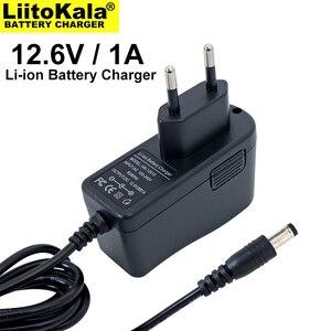 Image 2 - 1 10 pces liitokala 12,6 v 1a carregador de bateria de lítio 3s 12v bateria 100 240v carregador dc cabeça é 5,5*2,1mm
