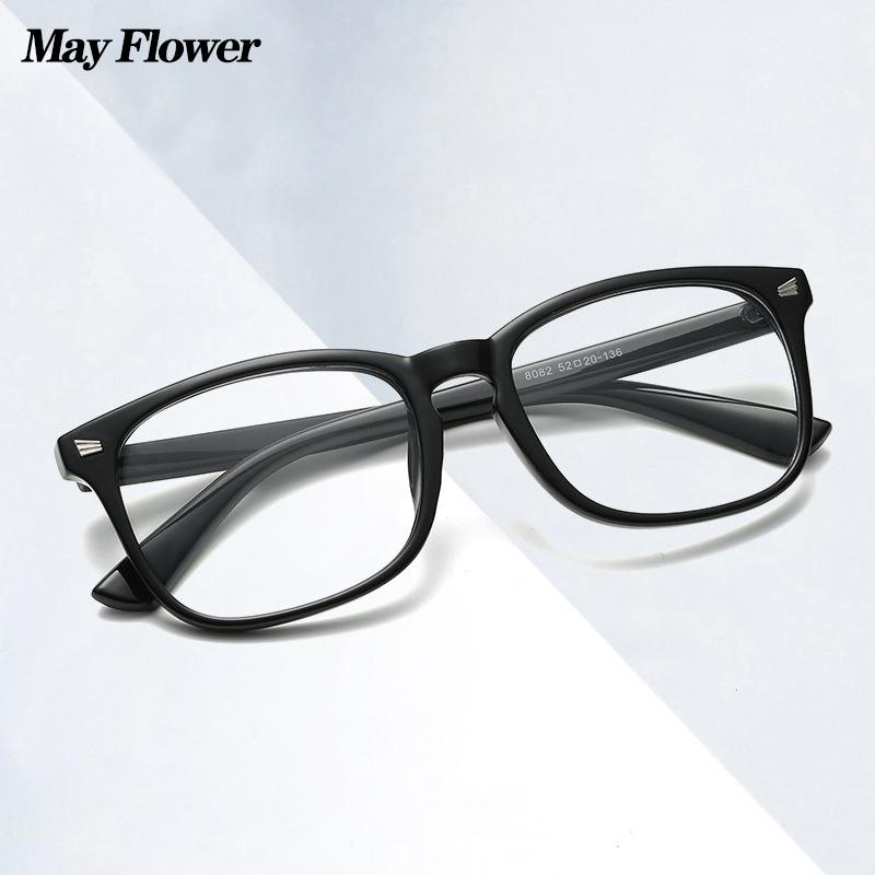 May Flower Blue Light Blocking Eyeglasses Decorative Glasses For Farsightedness Women's Glasses 2021 Big Size Reading Glasses +4