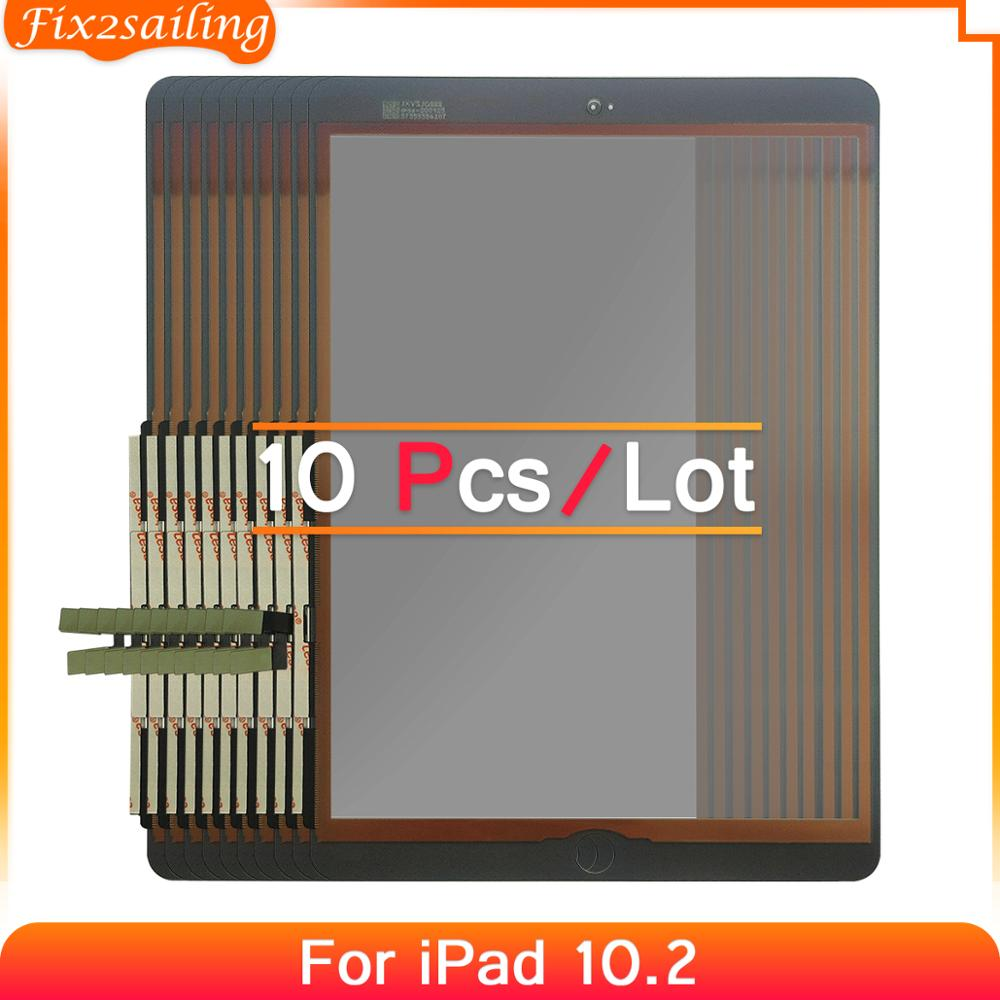 10pcs For iPad 7 10.2 2019 7th Gen A2197 A2198 A2200 Touch Screen Digitizer Outer Glass Panel Replacement No/With Key 100%Tested