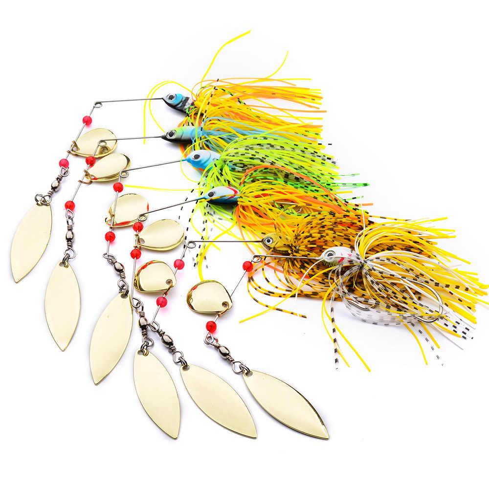 Spinnerbait Memancing Umpan Weights16g Memancing Ikan Umpan Articulos De Pesca Isca Buatan Memancing Pemintal Rig Logam Lure
