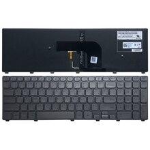 新ロシア dell の inspiron 17 7000 7737 ノートパソコンのキーボード逆光銀 ru teclado 0XVK13 MP 13B53SUJ442