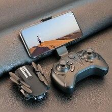 Mini Dron teledirigido con cámara HD 4K 1080P, WiFi, VANT FPV, fotografía aérea, helicóptero, luz LED plegable, Dron teledirigido