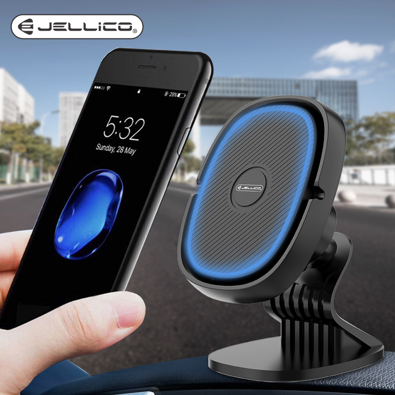 Jellico Car Phone Holder Magnetic Air Vent Clip Mount Magnet Mobile Phone Car Mobile Stand Support Cell Holder In Car GPS