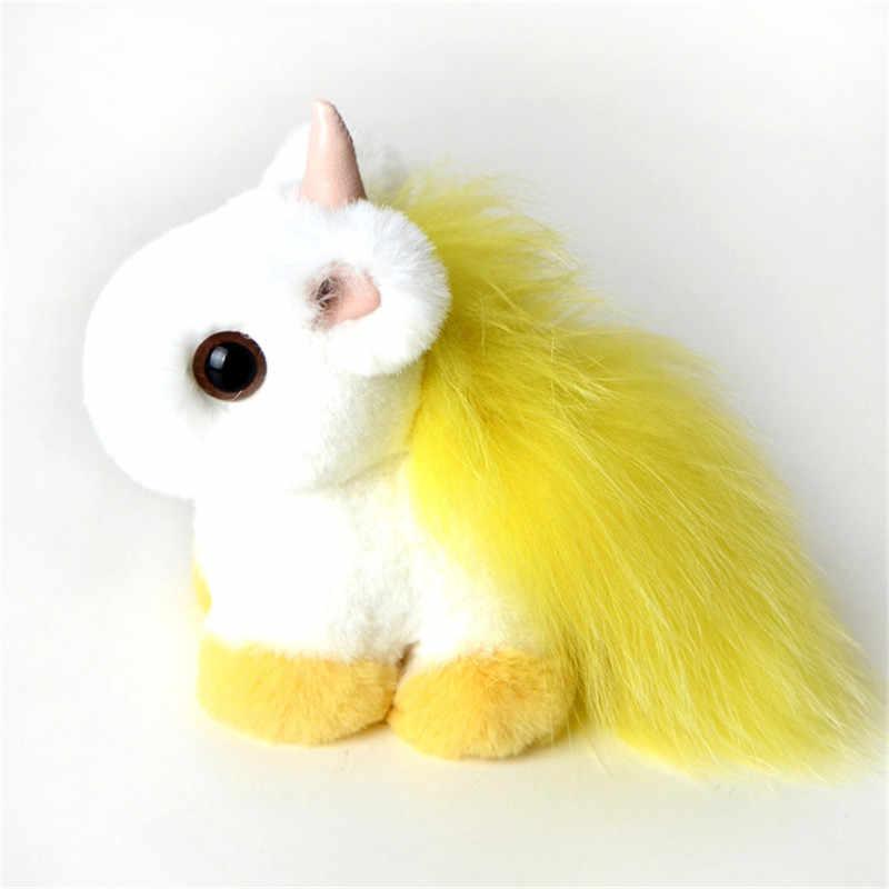 Hot New Style Fluffy Unicorn Unicórnio Chaveiro Bonito Chaveiro Carro Chaveiro Carro Chaveiro Senhoras Favorito da Menina Pingente.