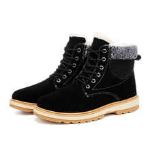 2019 Warm Men Snow Boots High Top Plus Velvet Warm Mens Winter Boots Casual Men Boots(China)