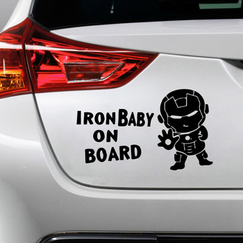 Vinyl Mini iron man Car Sticker Car Truck Body Side Door Sticker Decal Graphic Universal Car Side Door Stickers image