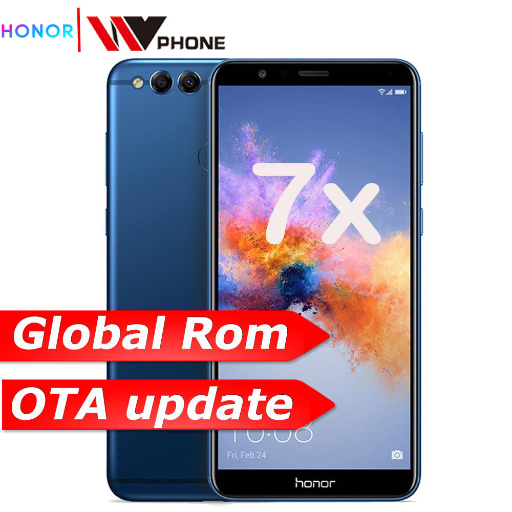 Honor 7X Mobile Phone Octa Core Dual Rear Camera 3340mAh  5.93 Inch 2160*1080P Fingerprint