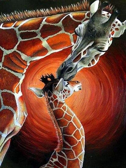 New Diamond Embroidery Animal giraffes Full drilling diamond painting Cross stitch Home Decoration Children's holiday gift