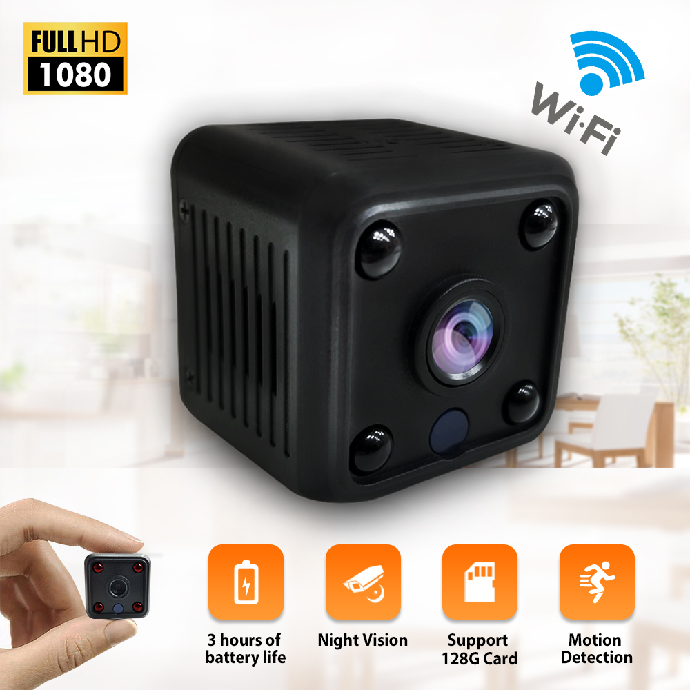 1080P HD IP Camera Night Vision Mini Camcorder Surveillance Security Wifi Camera Remote Monitor Small Camera