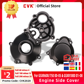 CVK Stator Engine Cover For GSXR600 GSXR750 GSXR1000 GSXR GSX-R 600 750 1000 K3 K4 1996-2001 2002 2003 2004 2005 2006 2007 2008 motorcycle parts engine stator cover for suzuki 2004 gsxr600 750 gsxr1000 black left side