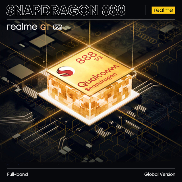 [Global Version] realme GT Snapdragon 888 5G 65W Flash Charge 120Hz Super AMOLED Play Store NFC Multi Language RMX2202 4