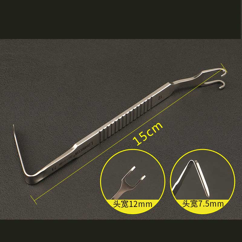 Mandibular Right Angle Hook Double Head Stainless Steel Nose Plastic Surgery Instrument Nose Hook L Type Nose Deep Pull Hook